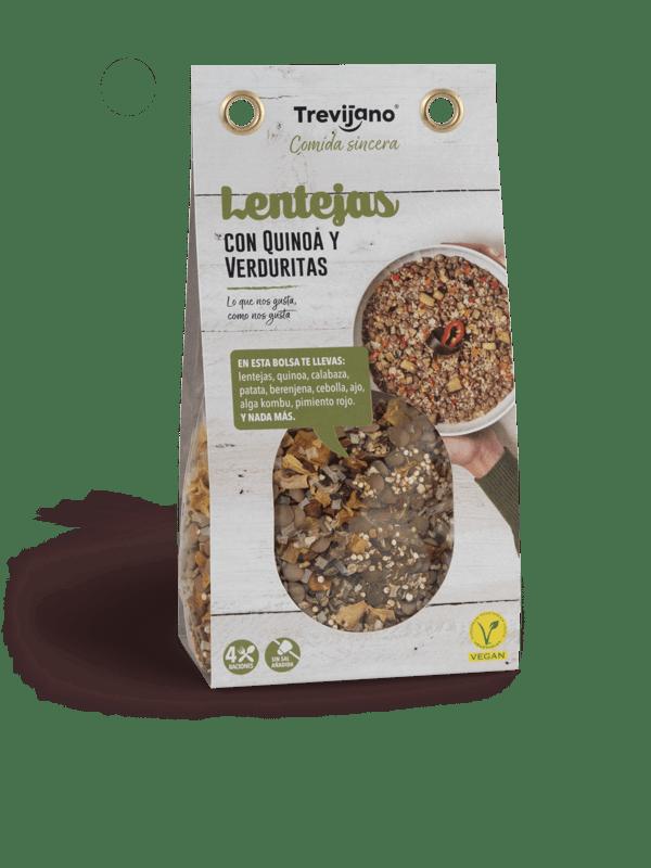 Lentejas Con Quinoa Y Verduritas