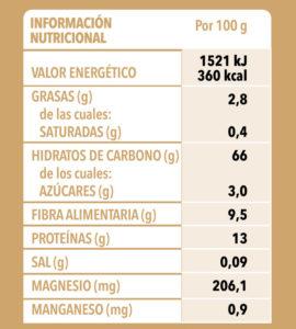 Quinoa Real150g Info Nutri