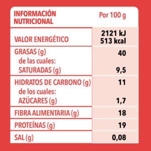 Semillas Amapola150g Info Nutri